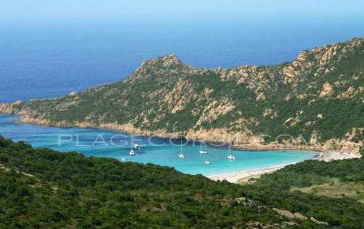 Roccapina en Corse la plage