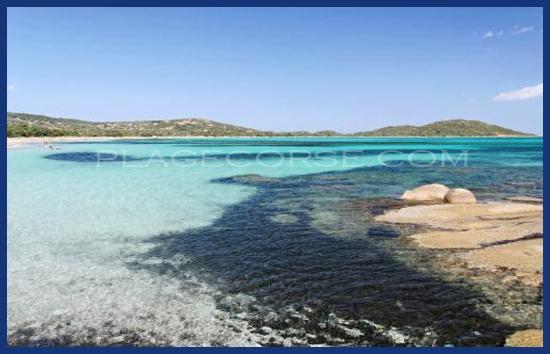 Plage de Saint Cyprien en Corse